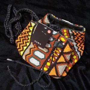 Beaded beauty body bag